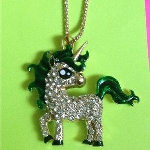Jewelry - Betsey Johnson unicorn pen and necklace